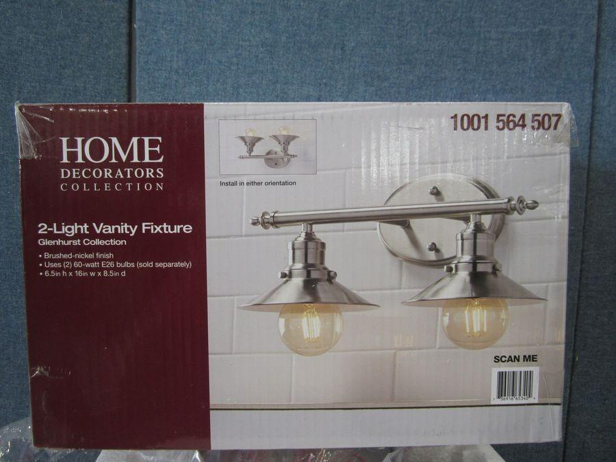 Home Decorators Collection Glenhurst Collection 2 Light Vanity Fixture Missing Parts Auction Auction Tucson