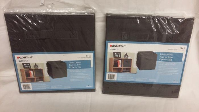 Brand New 2 Closetmaid Cubeicals Smoke Gray Fabric Drawer Auction
