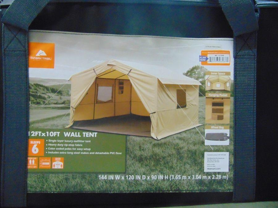 purchase cheap 88888 70c20 Ozark Trail 12X10 Ft All-Season Outfitter Wall Tent, Sleeps 6