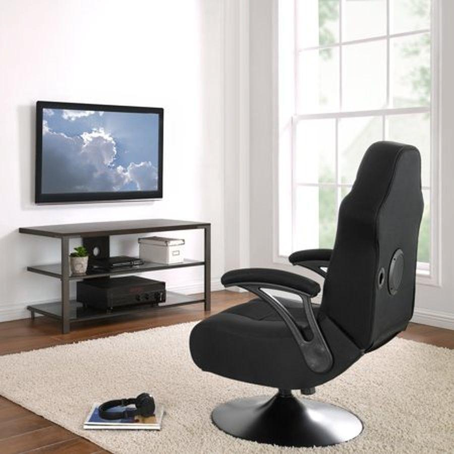 X Rocker X-Pro 300 Black Pedestal Gaming Chair Rocker with Built-in Speakers