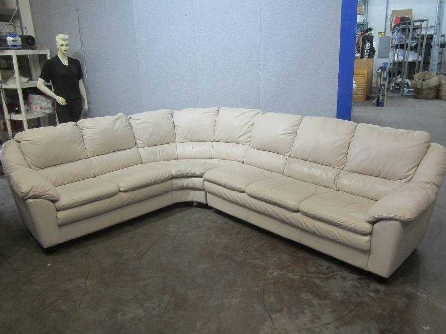 Stupendous 3 Piece Sectional Leather Couch 7X9X3 Creativecarmelina Interior Chair Design Creativecarmelinacom