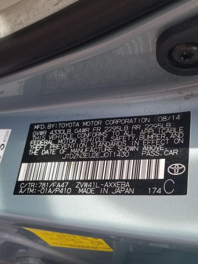 STUNNING 2014 Toyota Prius V Hybrid Hatchback Sedan VIN JTDZN3EU2EJ011430  LOW LOW 38,360 Miles, Automatic Transmission, Push Start With Keyless  Entry,